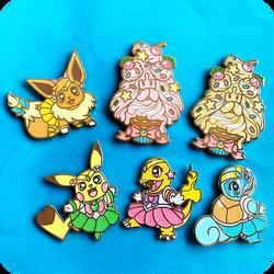 Pokesenshi Enamel Pins Part 1