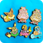 Pokesenshi Enamel Pins Part 1