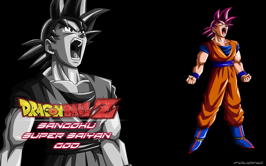 Wallpaper dragon ball z sangoku super saiyan god by fouding on deviantart - Sangoku super sayen 6 ...