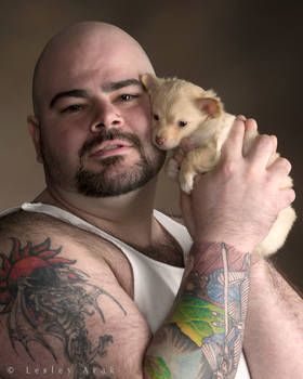 JohnnyP with puppy 3