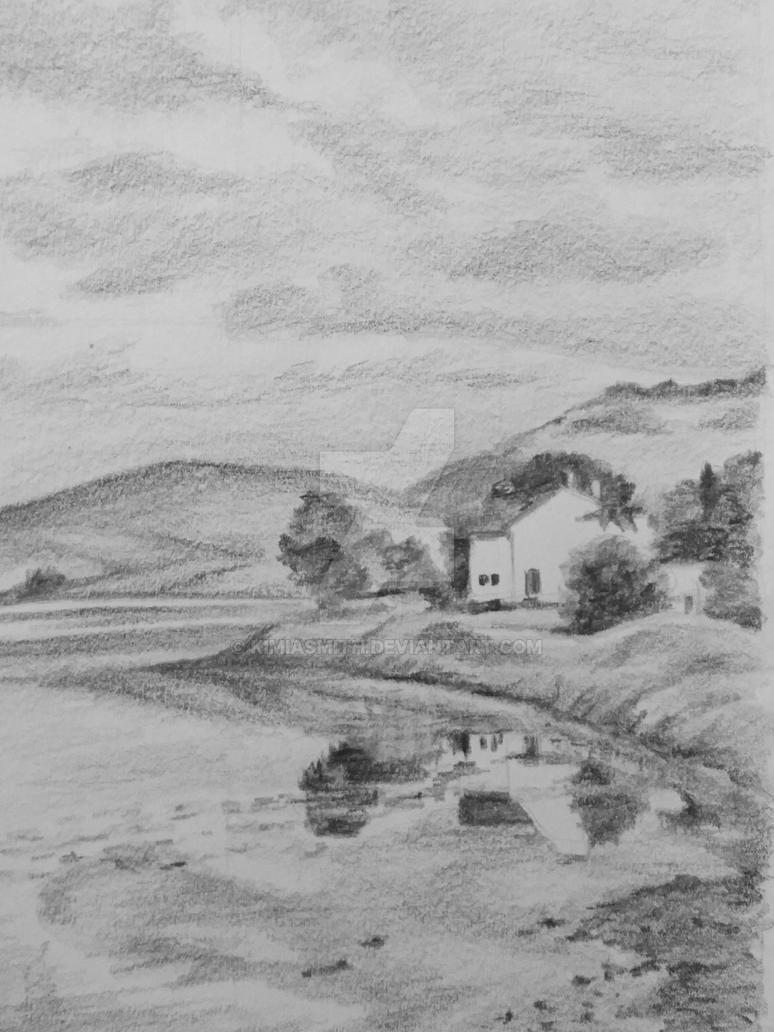 Cottage by Still Sea by KimiASmith