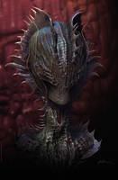 Alien Bust by DanieleValeriani