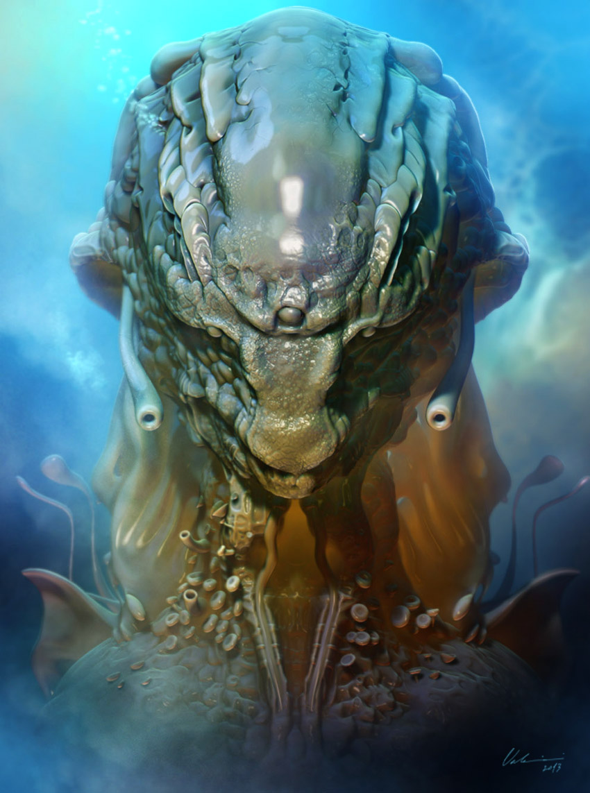 Sea Alien Bust - II by DanieleValeriani