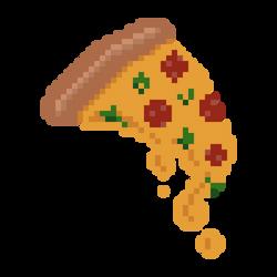 Pixel Art Pizza Slice