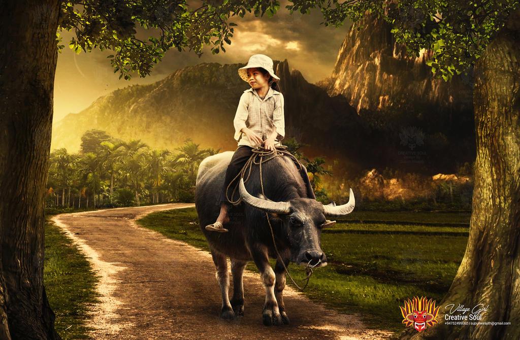 Village Girl Wallpaper by CreativeSoulSL