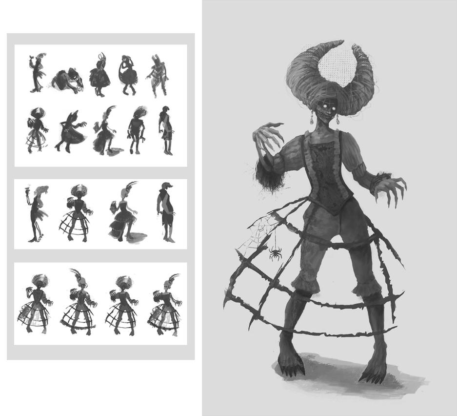Character Design Zombie : Noble zombie character design by chocolatejunkie on