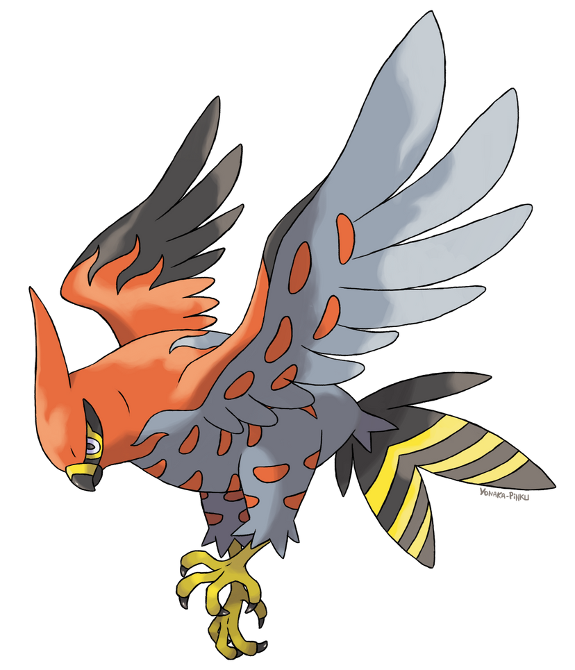 30 Days of Pokémon Talonflame___flambusard_by_yonaka_pinku-d6pm59c