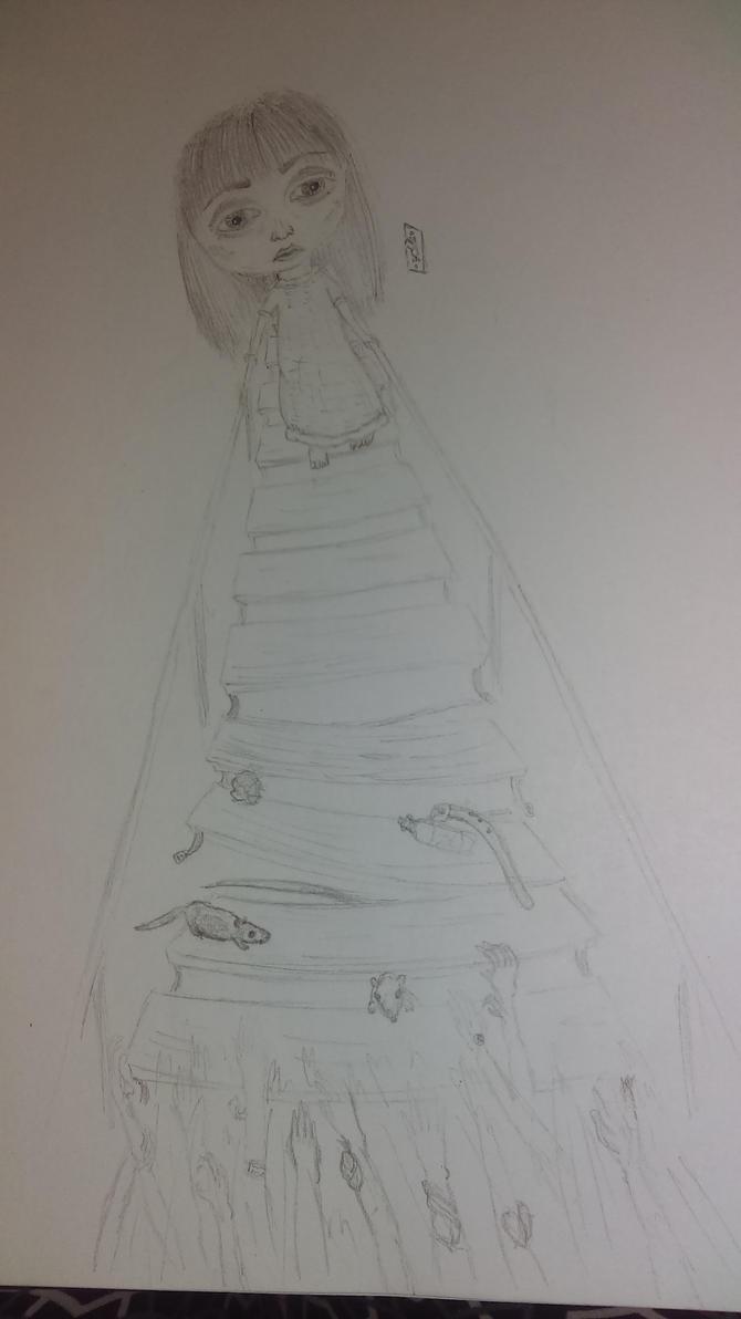 stairs. by indigomoon-child