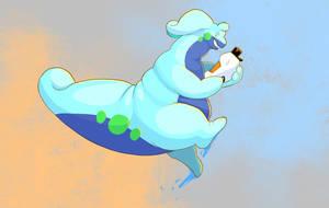 Bouncy! (Birthday gift art for derFisch)