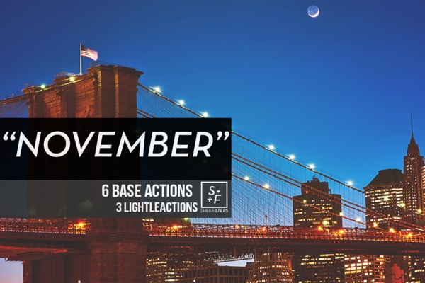 November | Photoshop Actions by ShekFilters