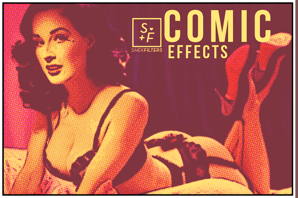 Comic | Cartoon |Photoshop Actions Effects on ETSY by ShekFilters