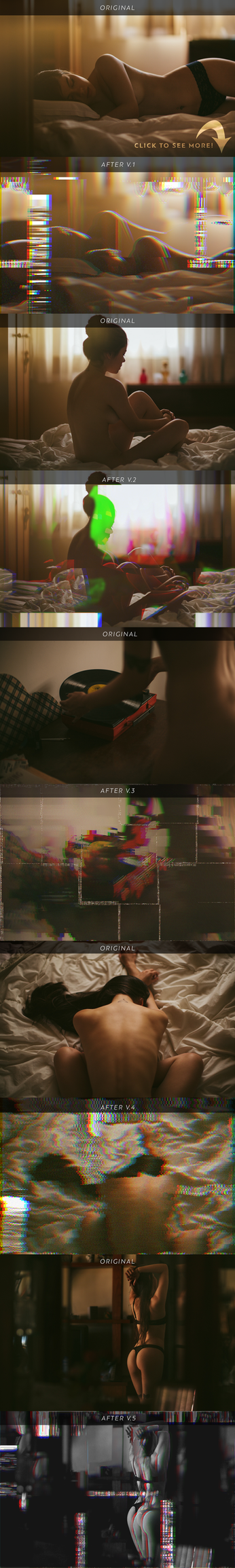 Corrupted VHS 3D Photoshop Action by ShekFilters