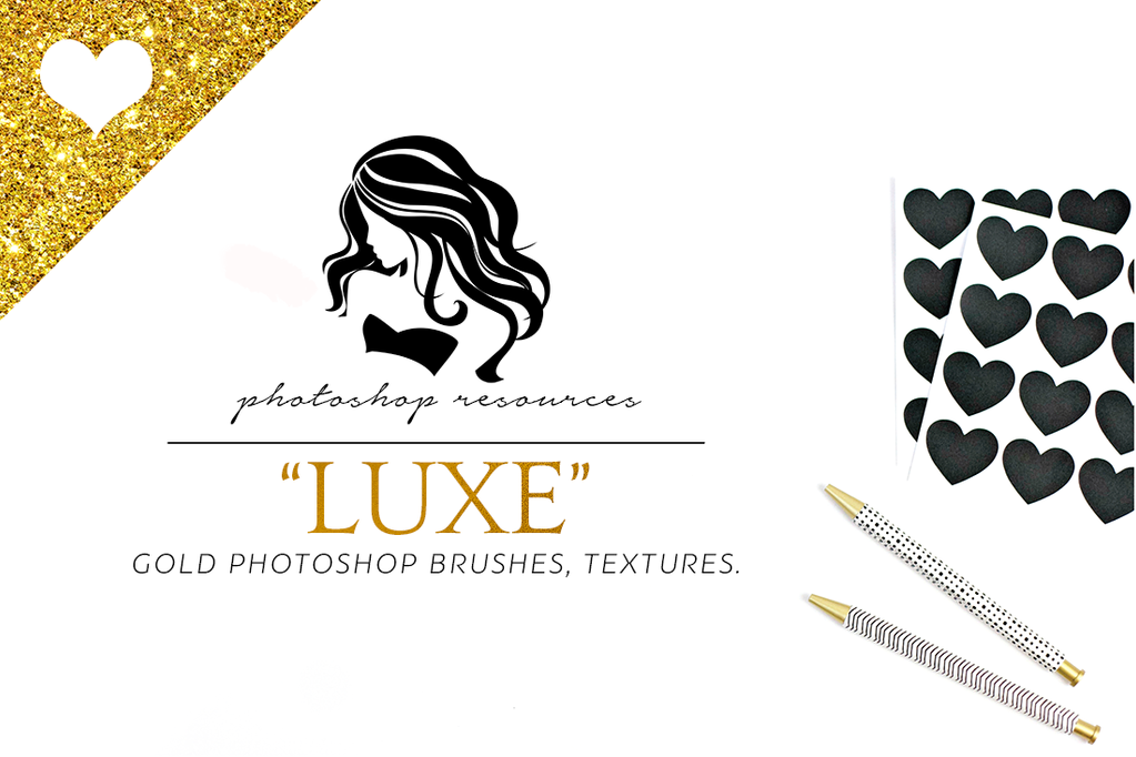 Luxe Gold Leaf Foil Textures by ShekFilters