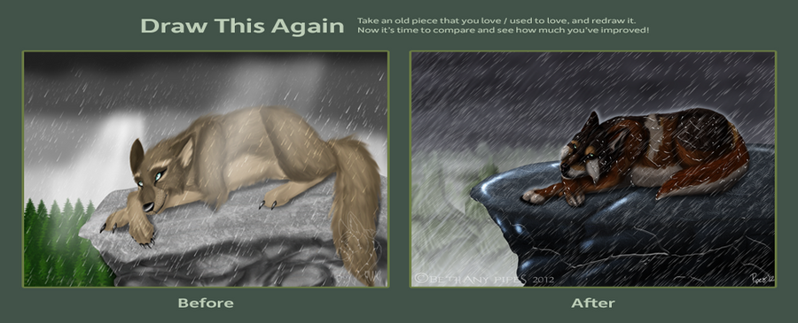 Draw this Again: Rain Storm by EireannWolf
