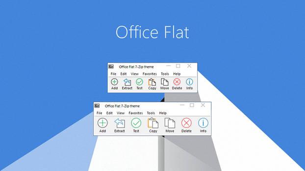 Office Flat 7-Zip theme