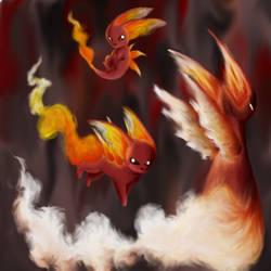 Pokemon - My Fire Starters