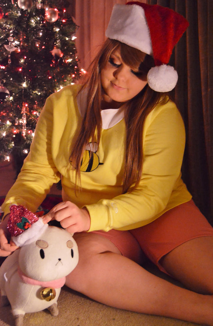 Merry Christmas from Bee and Puppycat! by xmagicalgirlyx