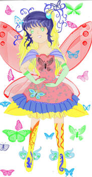 fly with butterfly