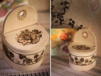 pyrography. box for salt by Irena-Unn