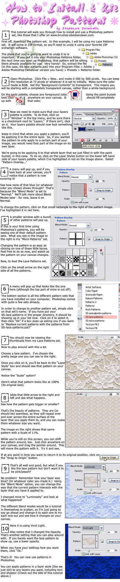 Installing + Using PS Patterns by redheadstock