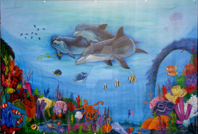 Ocean mural by fingirl