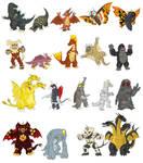 Godzilla Monsters 1