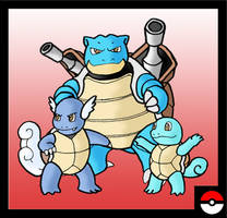 Squirtle Family by ZappaZee