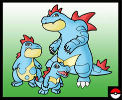 Totodile Family by ZappaZee