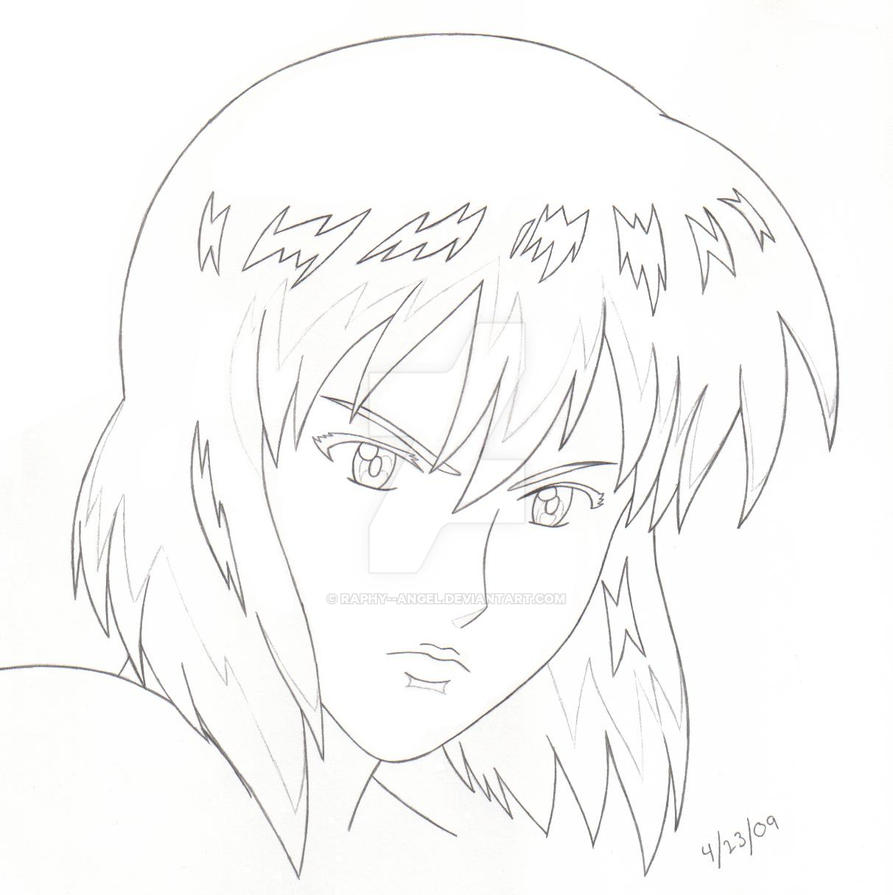 Motoko -- simple face sketch by IamBBchick