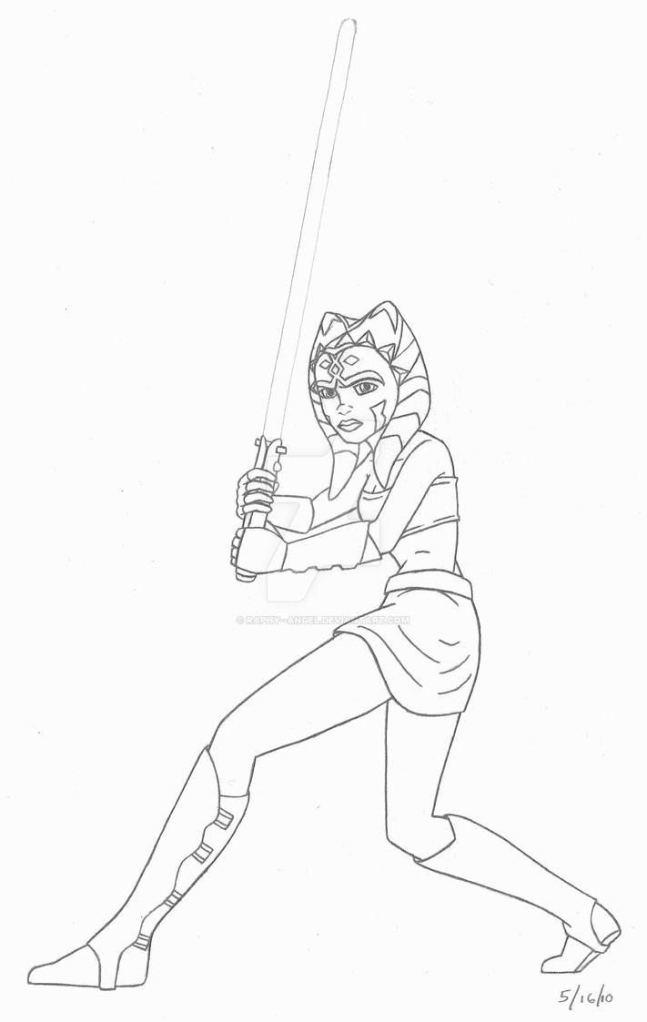 Kleurplaten Star Wars Clone Wars.Ahsoka Star Wars Clone Wars By Raphy Angel On Deviantart