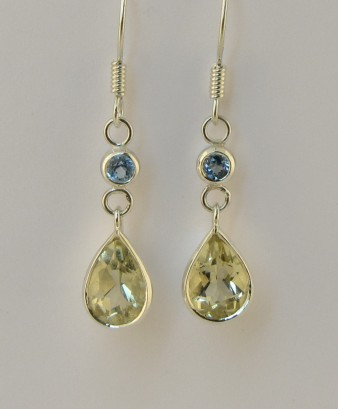 Heliodor and topaz earrings by timjo