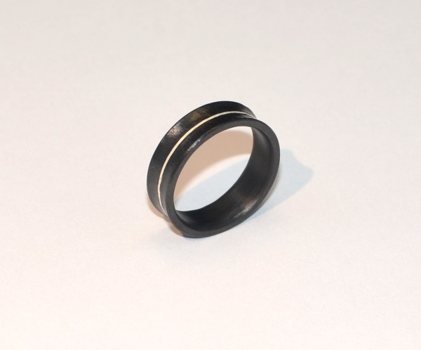 Silver-striped zirconium ring by timjo