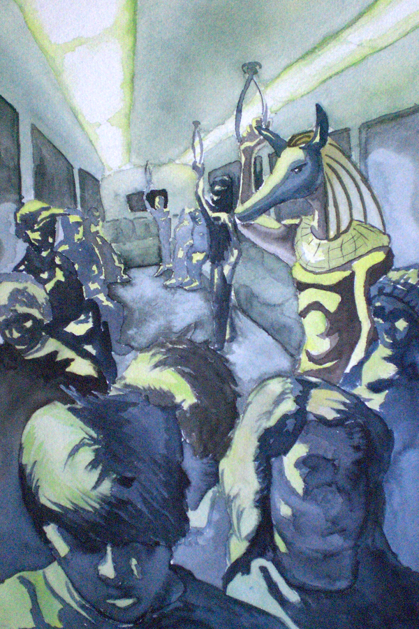Anubis takes the Subway by ElCapoeria