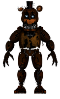 FNaF 4 Edit Nightmare Withered Freddy