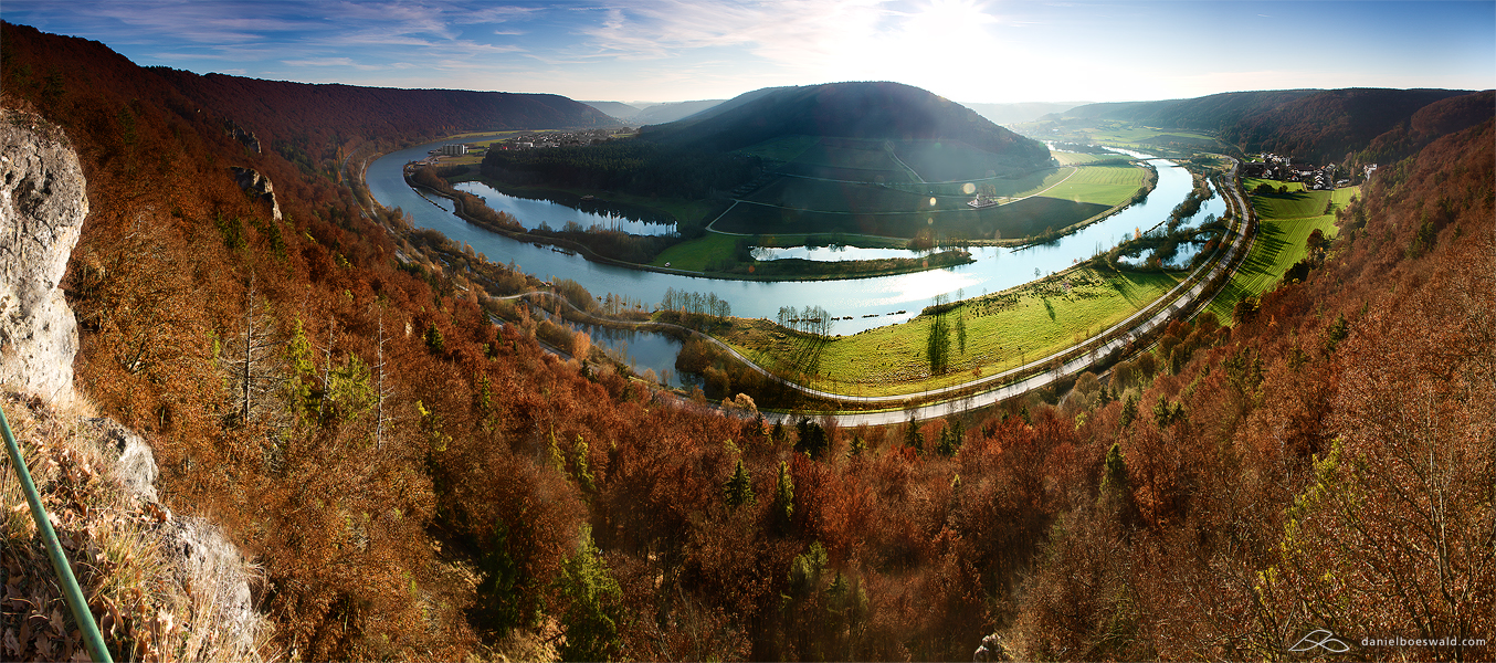 fall colors - 2 - panorama by mystic-darkness