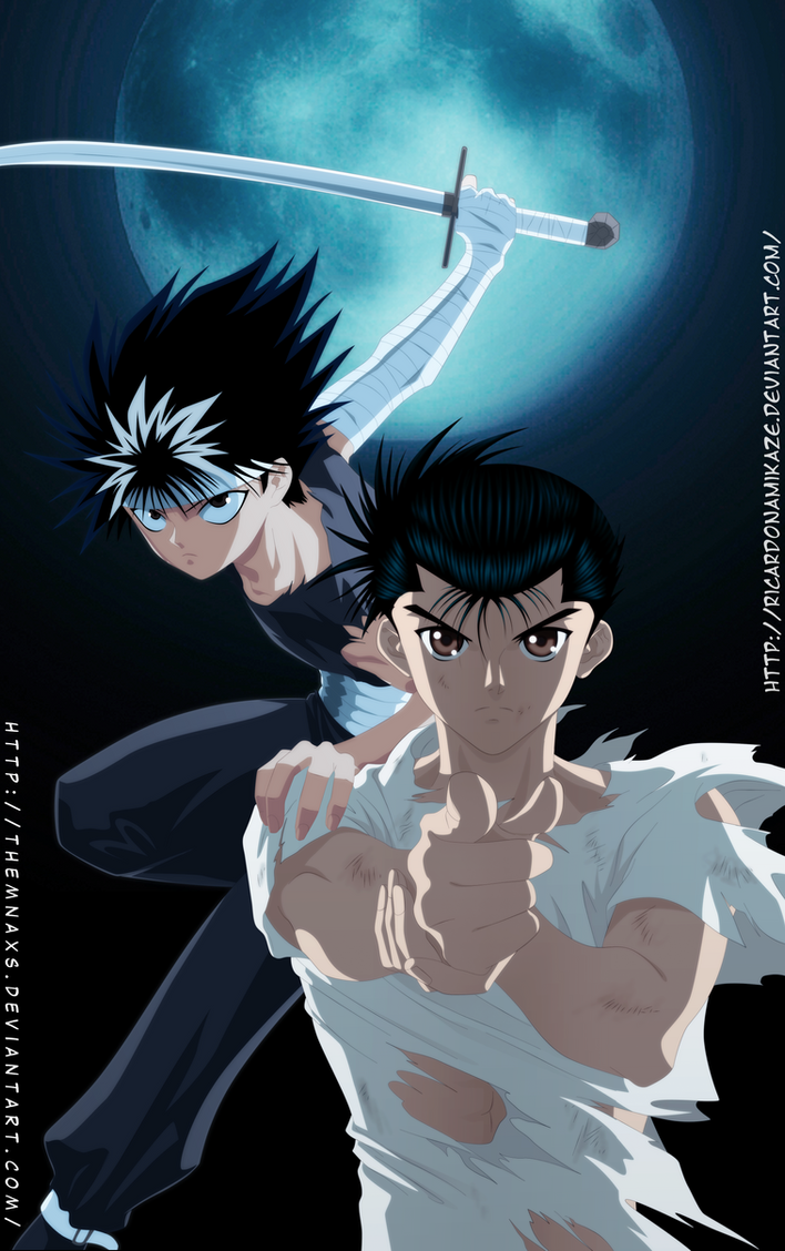 Yusuke and Hiei by themnaxs on DeviantArt