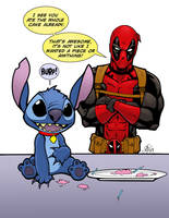 Deadpool and Stitch by Vulture34