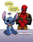 Deadpool and Stitch