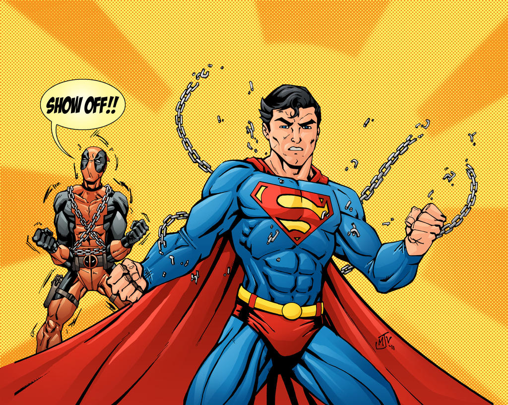 Superman and Deadpool by Vulture34