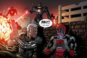 Cable and Deadpool by Vulture34