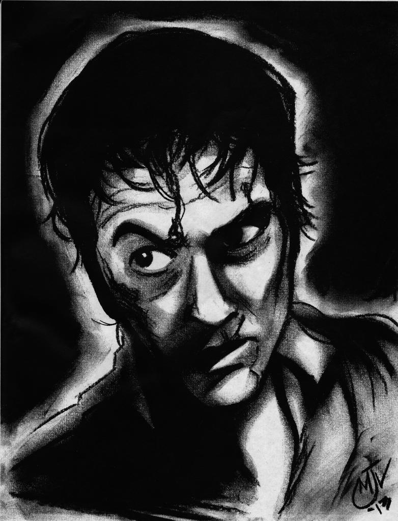 Ash charcoal drawing by Vulture34