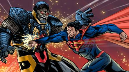 Superman vs Darkseid by Vulture34