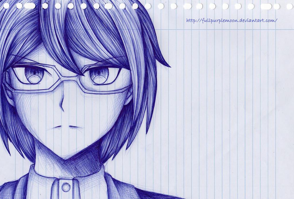 Pen Sketch: Togami Byakuya by FullPurpleMoon