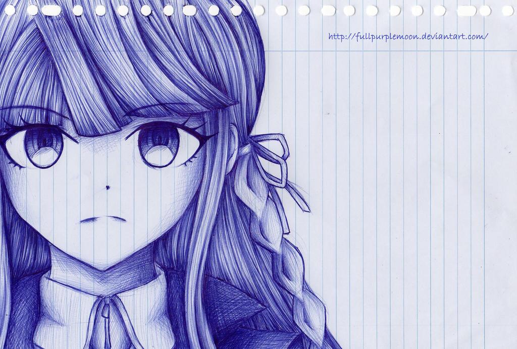 Pen Sketch: Kyouko Kirigiri by FullPurpleMoon