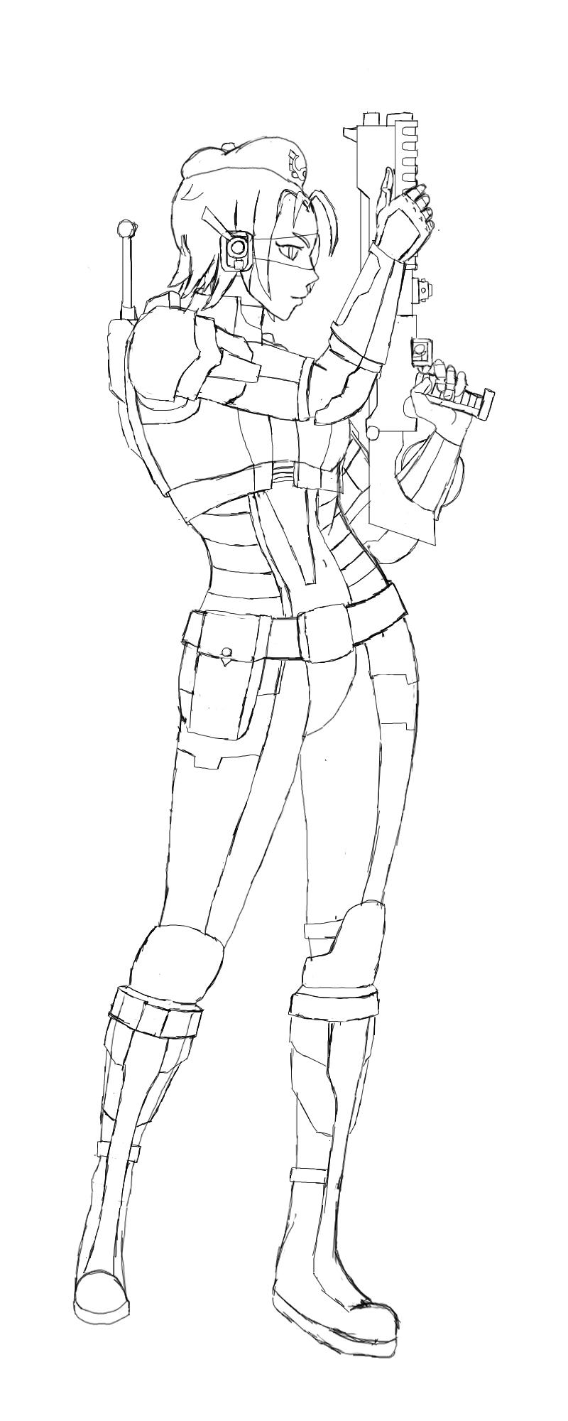 1st Luitenant Marie - combat gear by BeigePaladin