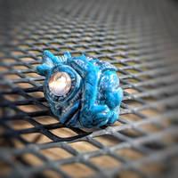 Deep Ones pin-Blue by Ravencorpus