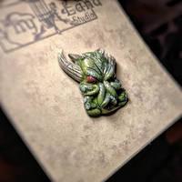 Cthulhu pin by Ravencorpus