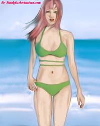 Sakura Haruno at the beach