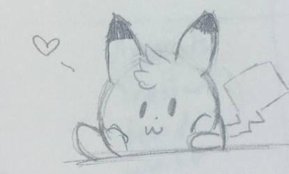 FAF) Pikachu Hoi (uncolored) by hazelwolfmallark