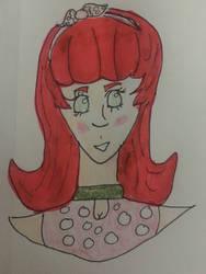 Strawberry girl DTIYS by hazelwolfmallark